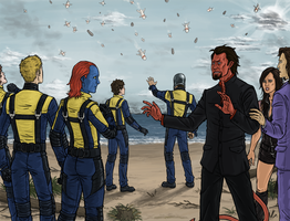 X-Men: Pause by sparkyHERO
