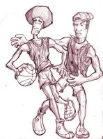 Basketball Dudes by therealarien