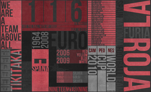 Spain NT Text Poster by theramunefizz