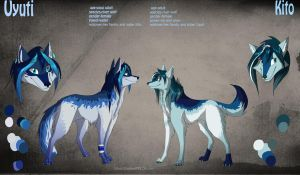 Uyuti and Kito reference by Silverbloodwolf98
