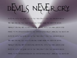 Devils Never Cry by rokelle2012