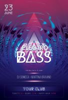 Electro Bass Flyer by styleWish