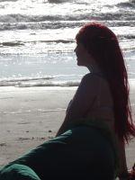Ariel looking out to sea by FuriePhoenix