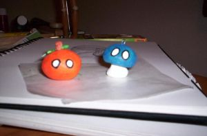 Mr. Pumpkin and Mr. Mushroom by Loia