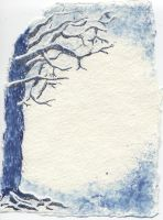 Snowy Tree by Euvanesiel