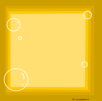 yellow bubble frame by snoopyluver5