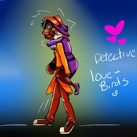 Detective love birds art trade by okwashere