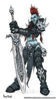 Troll deathknight coloured by Silly-Whiskers