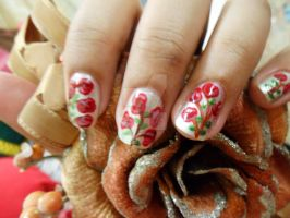 Rose Nail Art by super5003