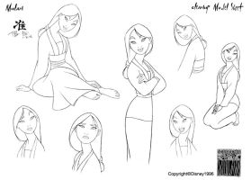 Clean-Up Modelsheet1(Mulan) by dagracey