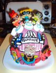 Powerpuff-Townsville Cake by ToughSpirit