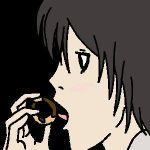 L Lawliet and his Donut GIF by Kishex-Nevarx
