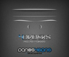 4 FREE DIVIDERS .PSD by panos46
