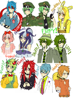 Happy Tree Friends charas by animegirl000