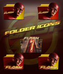 The Flash 2014 TV Series Folder Icons by a666a
