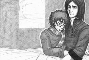 COMMISSION: Severus+Harry by bidrohi
