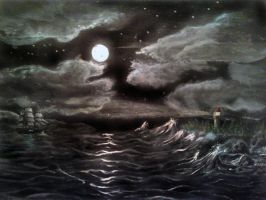 Ocean Painting by Lioness123
