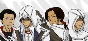 Dez Connor Ezio and granpapa Altair by jassessino