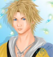 Tidus Portrait-Final Fantasy X by SassyLilPanda