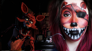 Five Nights At Freddy's | FOXY facepaint by SophieXSmith