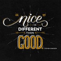 Nice Is Different Than Good by dani-kelley