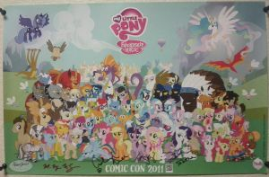 My Little Pony Comic-Con 2011 Poster *COMPLETE* by Closer-To-The-Sun