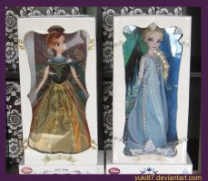 OOAK Limited Edtion Anna and Elsa by Yuki87