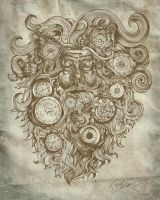 Father Time for Threadless by Lastsiren