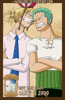 EPP - Davy Back Fight: Zoro and Sanji by SergiART