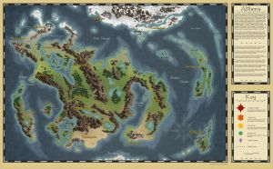Fantasy World Map - Altheria by JohnBerryArtworks