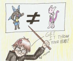 Lucario is not Mewtwo by Mister-Saturn