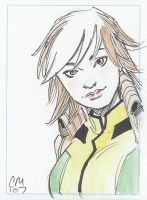 Rogue Sketch Card by ChrisMoreno