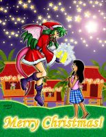 Dragon Kid Christmas Greeting 2012 by lady-storykeeper