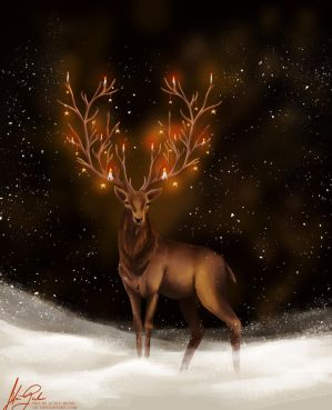 christmas deer by Wunschlos