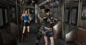 Training Claire Redfield by Mister-Valentine