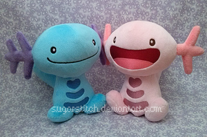 Pokemon: Wooper Pair by sugarstitch