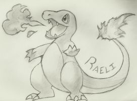 Raeli the Charmander by SeraphinaSilverfang