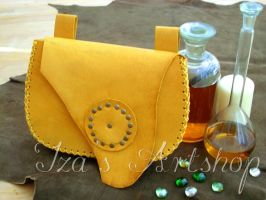Big yellow belt bag by izasartshop