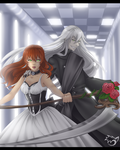 .: Undertaker and Anny :. commission by PinselTheExperiment