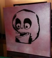 Skully Canvas by lexispurr