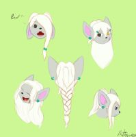 Playing with hair by Wildbatty