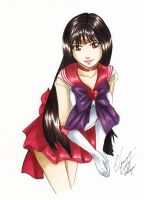 Sailor Mars - COPIC Practice by Ranefea