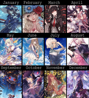 2016 Art Calendar by Kanekiru