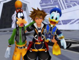 Sora Donald and Goofy by KHweilderkey21