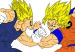 Goku Vs Vegeta colored by naruto uzumaki 09 by naruto-goku-luffy