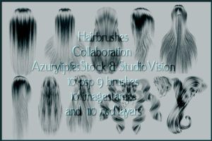 collaboration hairbrushes1.3 by AzurylipfesStock
