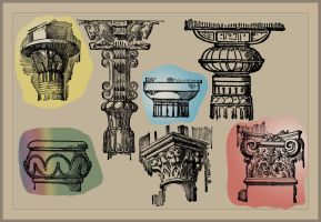 Pillars and Columns Brushes for Gimp and Photoshop by FractalBee