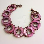 Pink Shell and Copper Bracelet by chef-chad