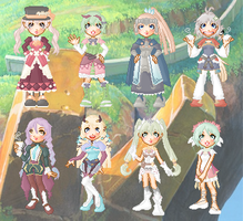 Rune Factory 4 Doll Collection by cutepiku