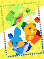 Hoenn Starters by yellowhima